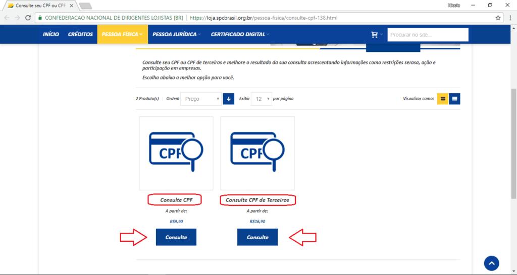Consultar CPF SPC Brasil