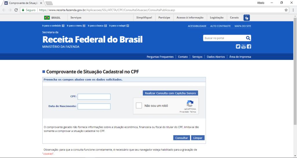 Consultar CPF Receita Federal Receita Federal